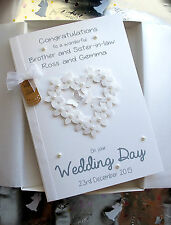 Luxury A5 size Boxed Handmade Personalised Wedding Day FlowerHeart Card