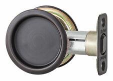 Kwikset  Oil Rubbed Bronze  Indoor  Round Pocket Door Lock  Metal