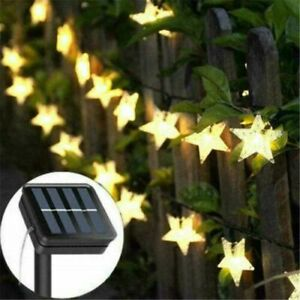 Outdoor Star Decor Solar Powered Waterproof Fairy String LED Lights Party Garden