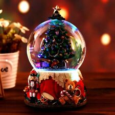 Christmas Gift Music Crystal Ball Snow Globe Glass Lights Christmas Tree