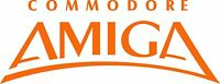 "COMMODORE AMIGA LOGO VINTAGE - 8"" X 3"" - SET OF 2 - ORANGE"