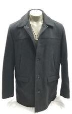 J CREW Wool University Jacket Stadium Cloth Thinsulate Coat Charcoal Gray sz LT