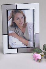 Moderner Fotorahmen Bilderrahmen silber aus Aluminium 13x18 cm