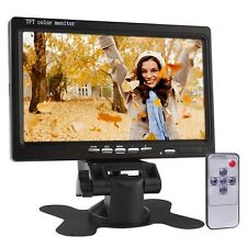 7 Widescreen TFT LCD Color 2 Video Input Car Rearview Monitor (Black)