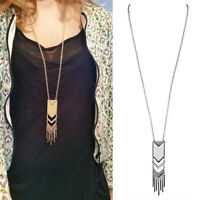 Charm Jewelry Gold Silver Plated Sexy Tassel Pendant Long Sweater Chain Necklace