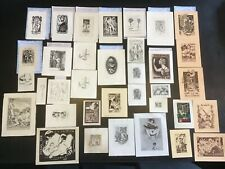 35, Ex-libris et gravures différentes érotiques XX siècle plusieurs  artistes