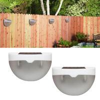 Solar Powered 6 LED Garden Fence Lights Wall Patio Door Deck Outdoor Light