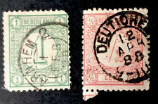 Netherland Stamps Sc 34 And 37 Used