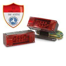 12V LED Submersible Trailer Light Kit Multi-Function leds DOT Compliant pair