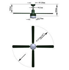 Fias Tash 4 Blade Ceiling Fan with Light in White