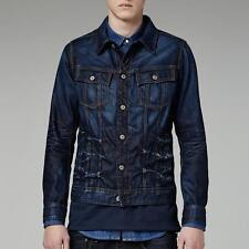 G StarSlim Tailor 3D Jacket in Dark Aged Lexicon Denim sz S