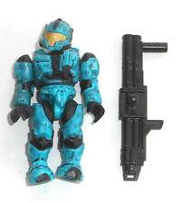 Halo Mega Bloks Figures ~ 2013 UNSC Spartan CQB (bleu) et lance-roquettes