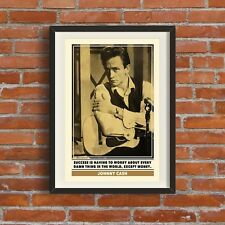 Johnny Cash Quote Print | Quality A3 Poster Pop Art Retro Gift Music Rock 1950s