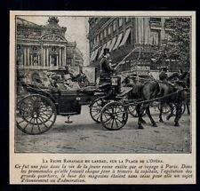 1903  --  LA REINE RANAVALO EN LANDAU  SUR LA PLACE DE L OPERA A PARIS   3N113