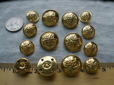 Gold crest hollow metal blazer buttons set Anchor Harp Designer 19mm / 24mm suit