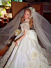 "BEAUTIFUL ASHTON DRAKE 1997""MELODY""18""PORCELAIN BRIDE DOLL-ARTIST CINDY MCCLURE"