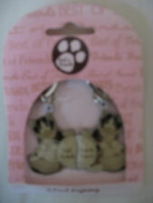 NEW KEITH KIMBERLIN 2 PART CATS BEST FRIENDS FRIENDS FOREVER 2 X KEYRINGS CATS