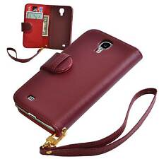 Red PU Leather Wallet Case for Samsung Galaxy S4 SIV i9500 - NEW