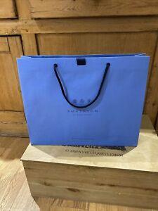 Smythson Gift Bag Large Nike Blue Paper Gift Shopping Bag New Ribbon.