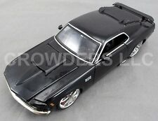Jada Toys Big Time Muscle 1970 Ford Mustang Boss 429 Black 1:24 #90022 Die Cast