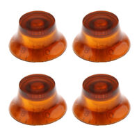 4pcs Plastic Top Hat Bell Style Guitar Speed Knobs for LP Electric Guitar