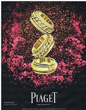PUBLICITE ADVERTISING 114 2011 PIAGET joaillerie en mouvement