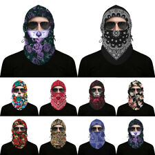 Mens Womens Floral Scarf Neck Warmer Face Mask Outdoor Windproof Ski Multi-use