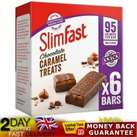 SlimFast Chocolate Caramel Treats Snack Bar Box of 30 Multipack Midday Snacking