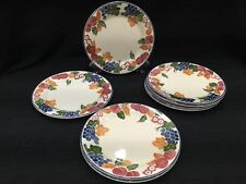 New set of 8 Staffordshire England tableware chianti  Dinner Plates 10""