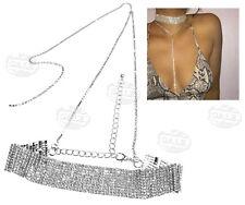 Rhinestone Choker Party Ladies Chain Women Diamond Alloy Necklace Bling Crystal