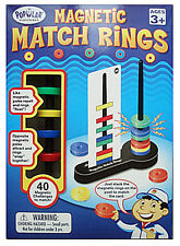 Magnetic Match Rings Unique Educational Problem Solving Game. Magnets Learning