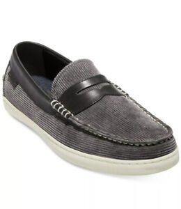Cole Haan Pinch Weekender Mens Loafers & Slip Ons Gray Corduroy Shoes Size 12 M