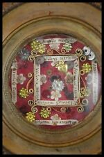 † 18TH ELIZABETH TOSF + LATIN SAINTS & MARTYRS MULTI RELIQUARY 8 RELICS ITALY †