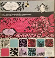 Scrapbooking Paper Pad La Bella Rouge Stack GLITTER & FOIL 12x12  Acid Free NEW