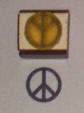 Peace Symbol small 1 inch Rubber Stamp - 1970s retro!