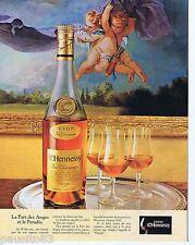 PUBLICITE ADVERTISING 095 1981 Cognac Henessy la part des anges