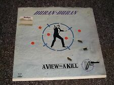 Duran Duran A View to a Kill 45rpm record w/PS James Bond Capitol 1985