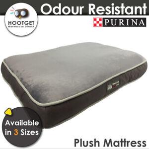 Purina Petlife Odour Resistant Plush Mattress - Soft Comfy Pet Puppy Dog Bed