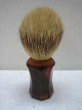 VINTAGE AMBER BAKELITE & BADGER HAIR SHAVING BRUSH