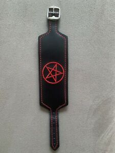 Leather Pentagram Wristband Rock/Metal/Goth/Punk/Biker Fashion