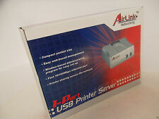 Airlink 1-Port USB Print Server 10/100Mbps RJ-45 LRP TCP/IP APSUSB1 PC/Mac NEW