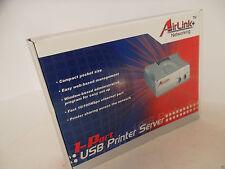 Airlink 1-Port USB Print Server 10/100Mbps RJ-45 LRP TCP/IP APSUSB1 PC/Mac NEW