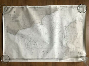 Vintage sea map English Channel Newhaven to Calais no 5066 1967