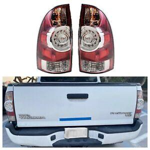 For 2005-2015 Tacoma Toyota Brake Light LED Tail Lamp LH+RH NEW Set with LED