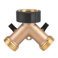 "3/4""Brass 2/4 Way Garden Water Tap Adapte Valve Splitter Hose Pipe Tap Connector"