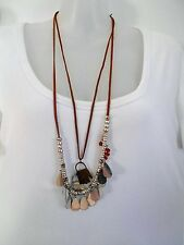 SALE Leather Necklaces with Charms was $16 NOW $8