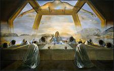 Salvador Dali The Sacrament of the Last Supper Reproduction 16.5X12 canvas print