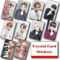 10pcs/set Kpop Bangtan Boys Collective Photo Card Crystal Card Sticker
