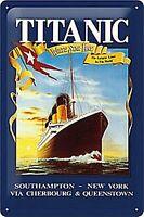 Titanic White Star Goffrato Segno Del Metallo (Na 3020)