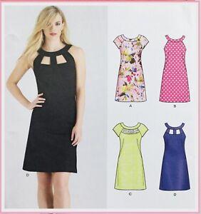 Modern SEXY CUT-AWAY  DETAIL COCKTAIL DRESS Sewing Pattern SIZE 10-22 (NL6429)